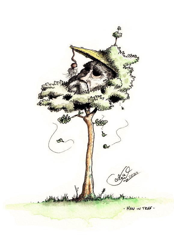 Man in Tree - Jérémie Kaiser